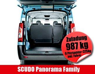 Autohaus Neumann an der B19 - Mietauto SCUDO Panorama Family