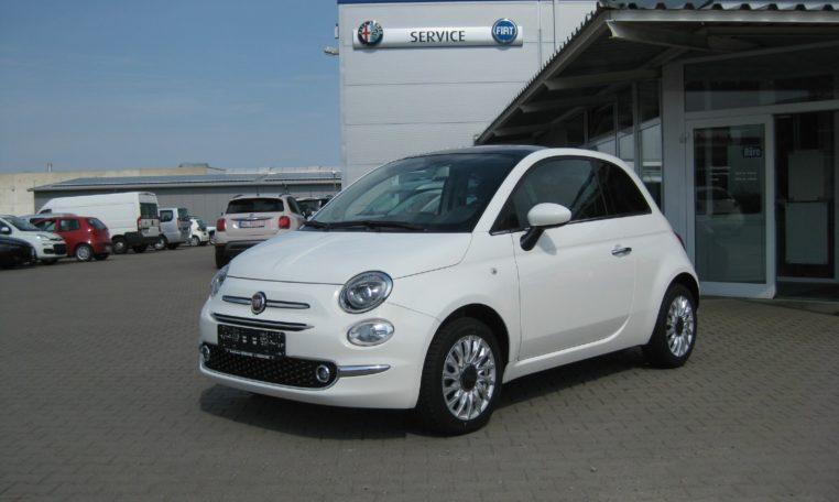 Fiat 500 Gelato Weiß Ansicht vorne links