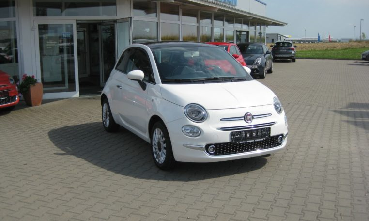 Fiat 500 Gelato Weiß Ansicht vorne rechts