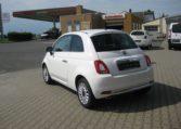 Fiat 500 Gelato Weiß Ansicht hinten links