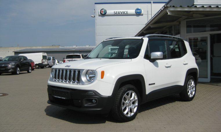 Jeep Renegade weiß Ansicht vorne links