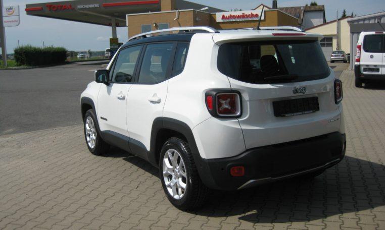 Jeep Renegade weiß Ansicht hinten links