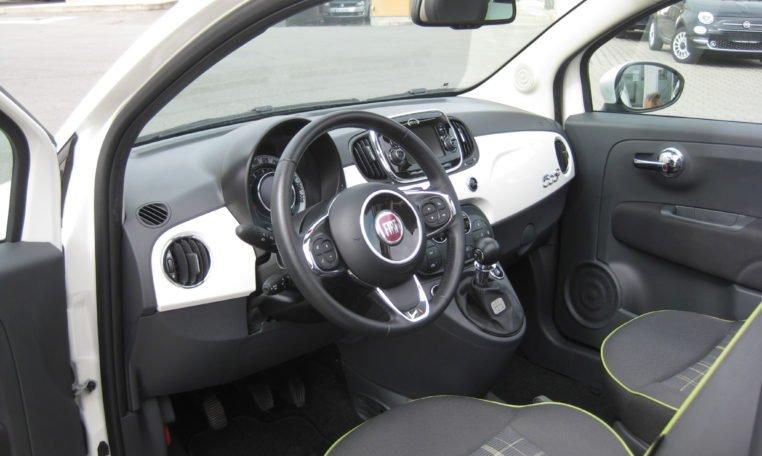 Fiat 500C Gelato Weiß Schwarz 5