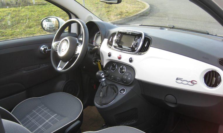 Fiat 500C weiß/rot