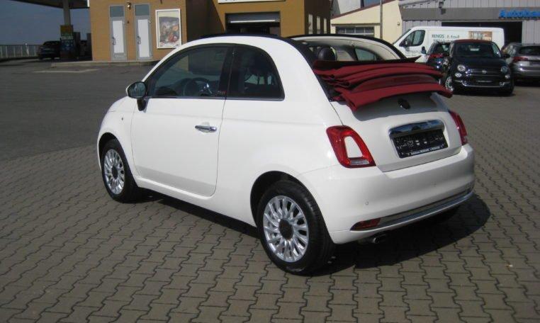 Fiat 500C Gelato Weiß Rot 4
