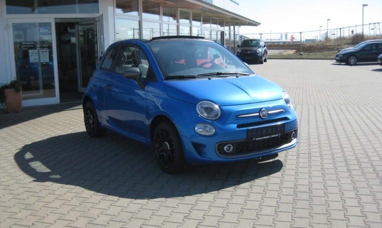 Fiat 500C Sport Italia Blau 2
