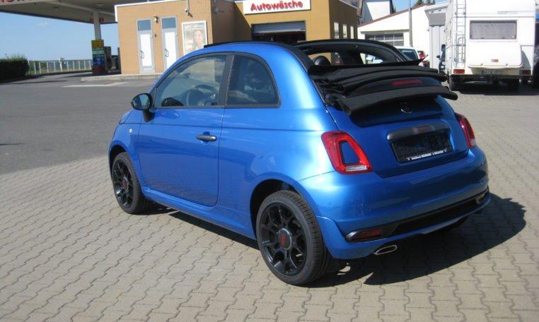 Fiat 500C Sport Italia Blau 4