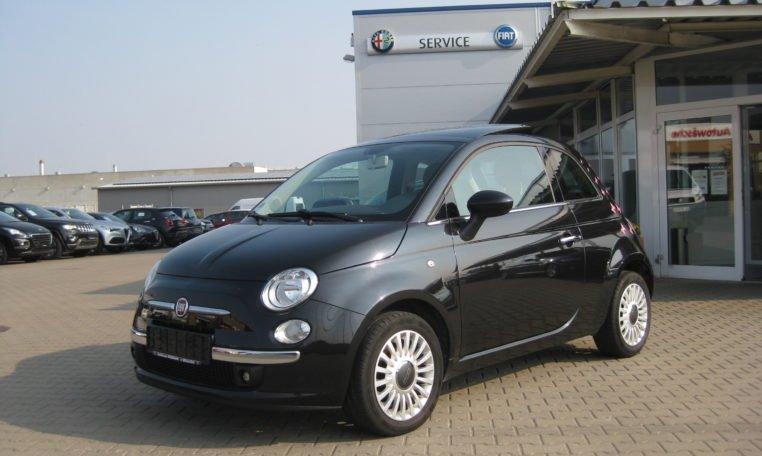 Fiat 500 Lounge schwarz Met 1