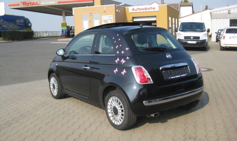 Fiat 500 Lounge schwarz Met 4