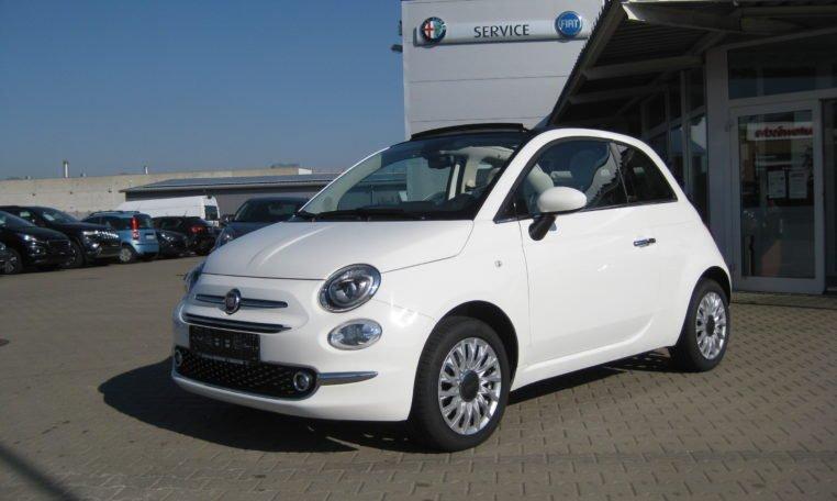 Fiat 500C Lounge weiß/schwarz 1