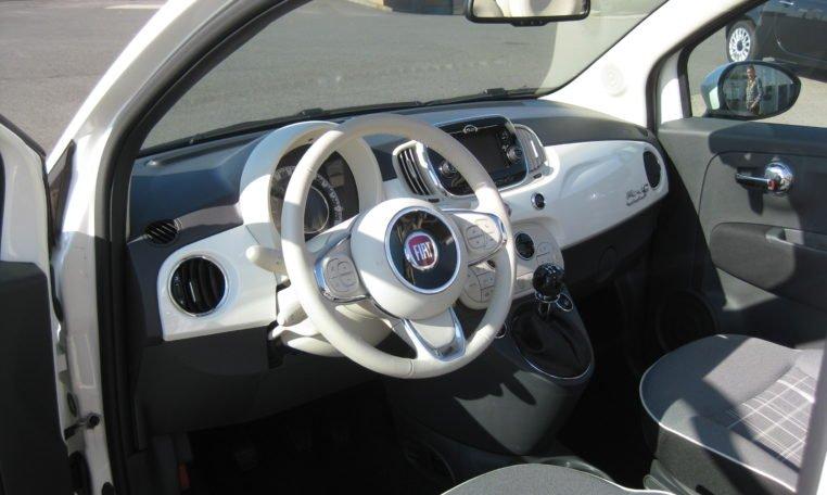 Fiat 500C Lounge weiß/schwarz 5